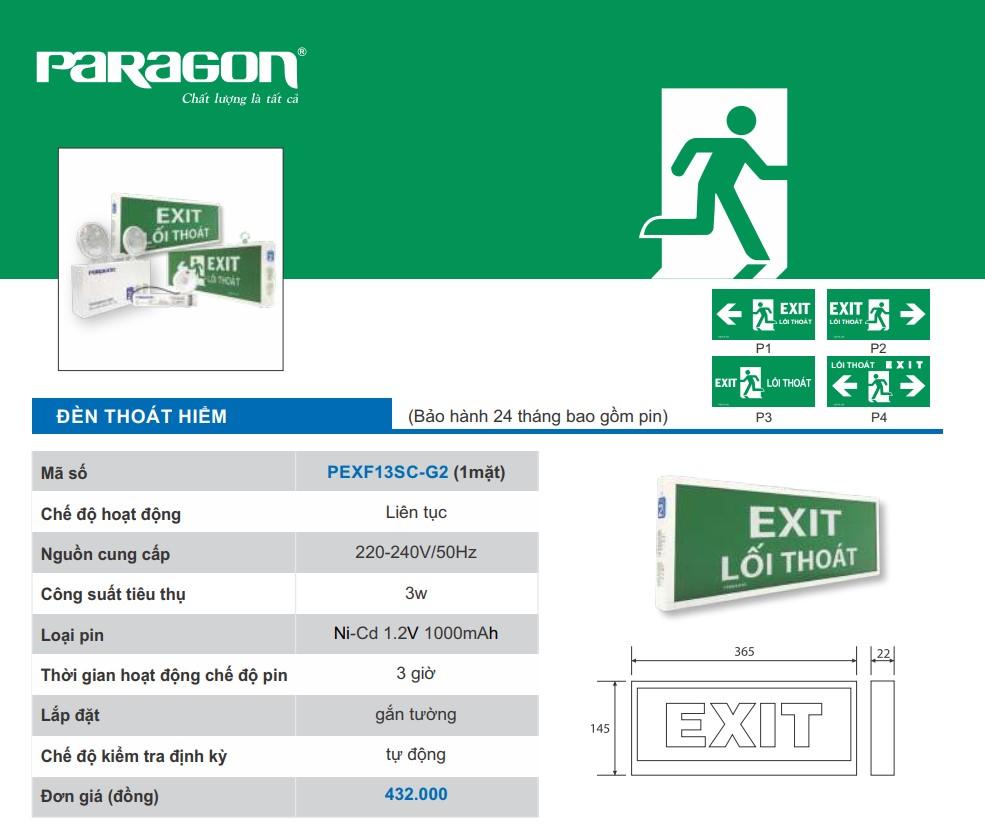 Den exit paragon pexf13sc-g2