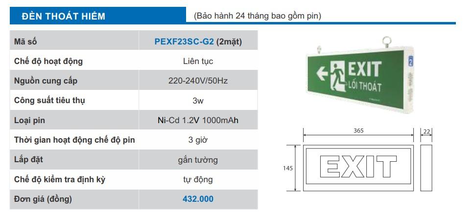 Den exit paragon pexf23sc-g2