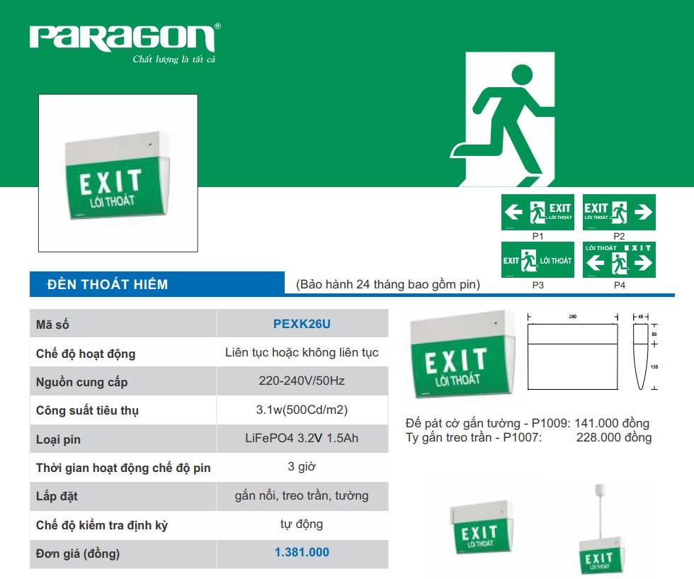 Den exit paragon pexk26u