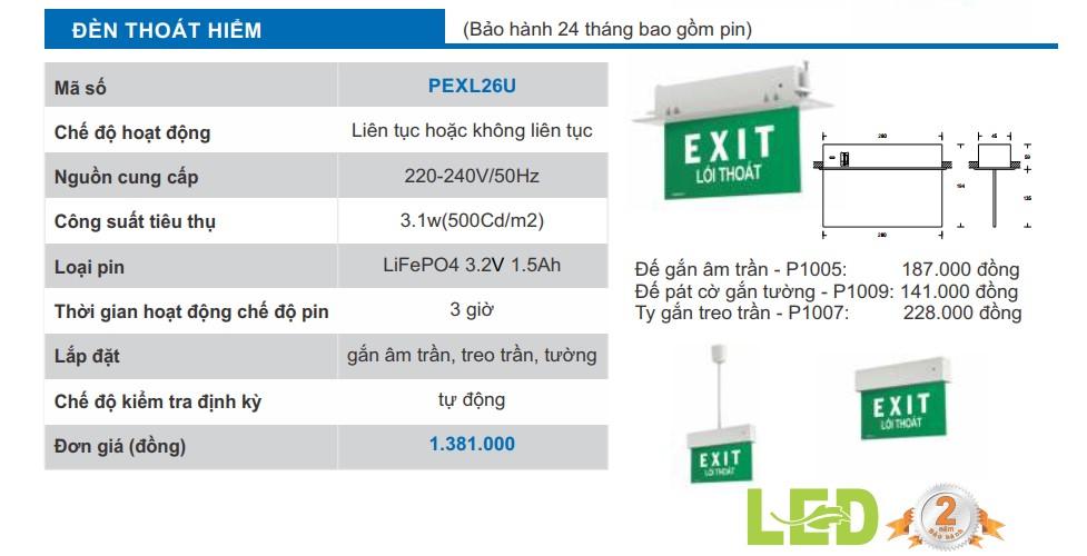 Den exit paragon pexl26u
