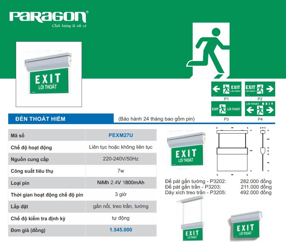 Den exit paragon pexm27u